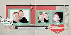 Happy Holidays #scrapbook layout using the Cricut® Artbooking cartridge holiday-themed keys. #CTMH