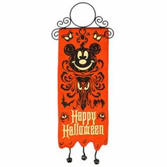 The Haunted Mansion Halloween Mickey Mouse Door Hanger - need one for my classroom and one for my house! Mickey Halloween Party, Halloween Bags, Halloween Door, Halloween Home Decor, Disney Halloween, Scary Halloween, Halloween Decorations, Mickey Mouse Classroom, Disney Classroom
