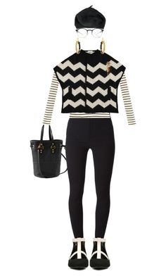 """""""ZigZag"""" by kathyaalrust ❤ liked on Polyvore featuring Yves Saint Laurent, Givenchy, Mykita, ALDO and Chanel"""