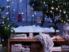 IKEA Curtain of Lights Snowflakes Decorative Lights Holiday Christmas LED Christmas Tress, Ikea Christmas, Christmas Bathroom, White Christmas, Christmas Holidays, Merry Christmas, Beautiful Christmas, Winter Holidays, Happy Holidays