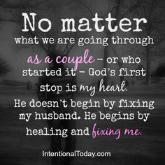 Whenever we go through challenges as a couple, God does not begin by fixing my husband, He begins by fixing me. More in this post..