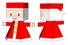 PAPERMAU: Christmas Time - Easy-To-Build Santa Claus Paper Toy For Kidsby Ahirumako