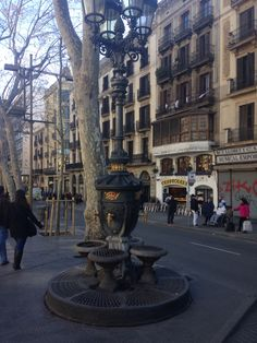 Font de Cataletes on Las Ramblas
