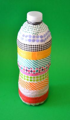 Washi Tape Water Bottle Rain Stick