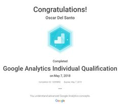 Google Analytics Individuals Qualifications, May 7th 2018