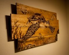 Swimming Sea Turtle made from 100% recycled by SimplyPallets