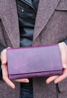 Madamzel purple leather wallet