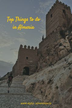 Find out the Top things to do in Almeria is in this one stop guide. La Alcazaba, Almeria Cathedral, Cabo de Gata National Park and more! Stuff To Do, Things To Do, Andalucia, Spain Travel, Bolivia, Travel Guides, Cathedral, National Parks, Europe