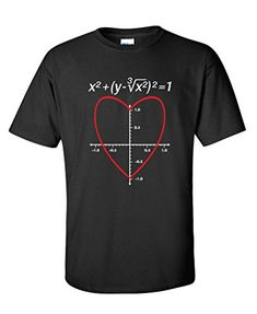 Love Heart Equation Mens Ladies #Valentine's Day T Shirt http://buttermintboutique.com/valentines-day-movie/