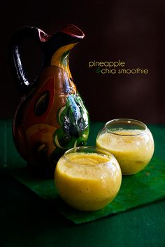 On Mozart and Pineapples (Plus a pineapple and chia smoothie recipe)