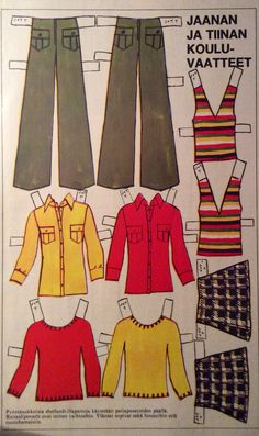 Jaana and Tiina clothes