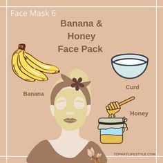 Mask For Dry Skin, Skin Mask, Face Skin, Clear Skin Face Mask, Lemon Face Mask, Banana Face Mask, Beauty Tips For Glowing Skin, Beauty Skin, Face Beauty