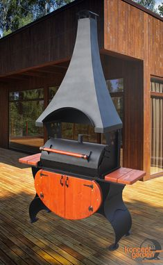 Мангал-коптильня с крышей и столешницами МК-8д Barbecue Design, Grill Design, Barbecue Grill, Outdoor Oven, Outdoor Cooking, Shop Heater, Fire Pit Grill, Patio Kitchen, Rocket Stoves