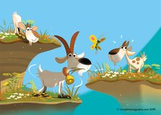 Three Billy Goats Gruff with Dankerleroux fun illus is in Storytime issue 10. So much fun! #fairytale