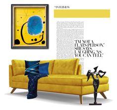 L'Oro dell'Azzurro.. by vkevans on Polyvore featuring interior, interiors, interior design, home, home decor, interior decorating, Joybird Furniture, Safavieh and Salvador Dali
