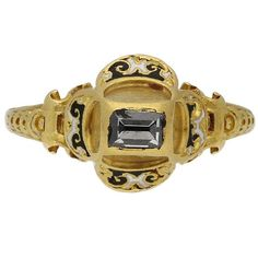 Museum Quality Tudor Table Cut Diamond Gold Ring For Sale Renaissance Jewelry, Medieval Jewelry, Ancient Jewelry, Wiccan Jewelry, Gold Diamond Rings, Diamond Wedding Rings, Diamond Cuts, Jewelry Shop, Gold Jewelry
