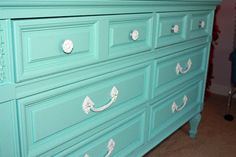 Tiffany Blue Dresser........ Sorry I have been pinning so much..... Expect a lot more of these kind of pins because I love these!!!
