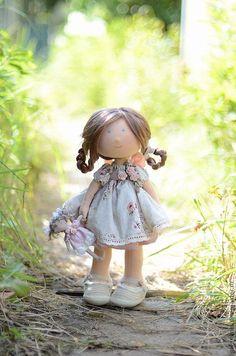 Купить Романтическая особа - бледно-розовый, розовый, подарок, подарок девушке, подарок женщине, кукла