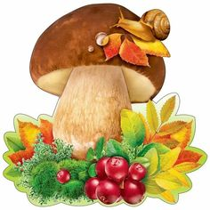Fall Arts And Crafts, Diy And Crafts, Korean Crafts, Preschool Decor, Decoupage Printables, Autumn Scenes, Mushroom Art, Christmas Jars, Flower Coloring Pages