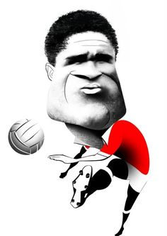 Caricatura de Eusébio Manchester United Football, Football Pictures, Sports Stars, Caricature, Superhero, Portrait, Movie Posters, Cartoons, King