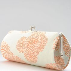 Floating Buds in Linen, small clutch purse $12