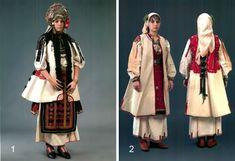 1 - невестина носия, с. Комарево, Плевенско, края на 19 век. 2 - празнична зимна женска носия - с. Чирен, Врачанско, втората половина на 19 в.