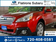 2014 *Subaru*  *Outback* *2.5i*  34k miles $22,404 34573 miles 720-408-0581 Transmission: Manual  #Subaru #Outback #used #cars #FlatironsSubaru #Boulder #CO #tapcars
