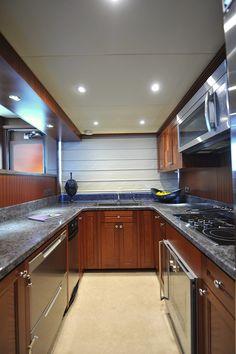 Ocean Alexander 90-Galley-Custom Yacht Interior Design-Destry Darr Designs
