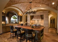 Cat Mountain Villa - mediterranean - kitchen - austin - JAUREGUI Architecture Interiors Construction