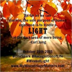 Let us create a light that will tell our babies' stories!!! Join us from October 1, 2014 - October 15, 2014 for the recognition of these short beautiful lives that matters! It only takes one spark! Your loss matters ~ YOU matter ~Team MM   #OneSpark #BreaktheSilence #RoL #WoL #IamMMs1in4 #IamMMs1in100 #WaveofLight #RecognitionofLife #MyMiscarriageMatters  www.mymiscarriagematters.com