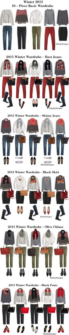 Winter 2013 10 - Piece Basic Wardrobe by bluehydrangea on Polyvore featuring…