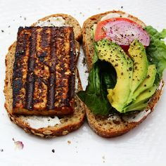 The high protein in the tofu and whole grains in the toast provide the perfect workout recovery meal that is perfectly well balanced.