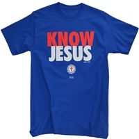 Know Jesus Red Cross Christian T Shirt