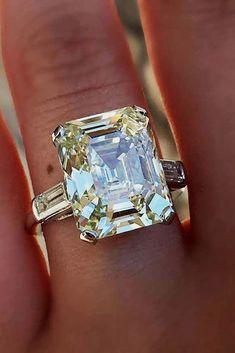 large emerald cut diamond ring #emeraldcut #diamonds