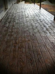 Wood Stamped concrete floors- AMAZING! | For the Homestead | Pinterest