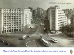 Corner taken off after 1977 earthquake. Bucharest Romania, Vintage Postcards, Verona, Time Travel, Photo Art, The Past, Old Things, Street View, Memories