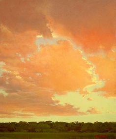 Bruce Brainard artwork (I like how the sky colors compliment each other. Good vibration)