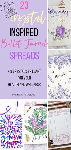 Release your inner creative with these crystal bullet journal spreads