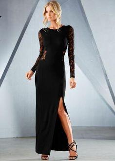 4b0396d9a7 Vestido longo com renda preto pedir on-line - bonprix.de by Divonsir Borges