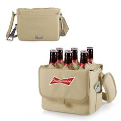 Picnic Time Budweiser Six-Porter Beverage Tote