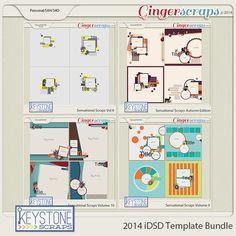 2014 iDSD Template Bundle from Keystone Scraps!
