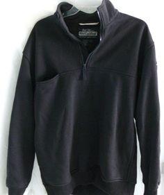 FirstCallGear Rain Tek Pull over 1/2 Zip Navy Blue Elbow Patch Sweater Size L #FirstCallGear #12Zip