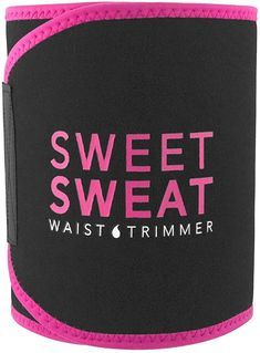 Sports Research Sweet Sweat Premium Waist Trimmer (Pink Logo) for Men & Women ~ Includes Free Sample of Sweet Sweat Gel! I Sweat A Lot, Fat Burners For Men, Trimmer For Men, Belly Fat Burner, Home Workout Equipment, Fitness Equipment, Wrap, Latex Free, Shapewear