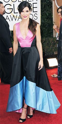 One of my Favs!  She looked amazing in this! 2014 Golden Globes - Red Carpet Arrivals - Sandra Bullock from #InStyle