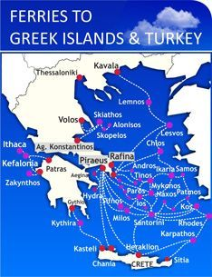 Greek Ferries Ferries To Greece Ferry Crete Santorini