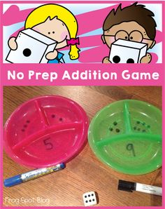 Frog Spot: No Prep Addition Game- Wow!  This is a fantastic way to show bonding and decomposing! math center, addit game, frog spot, multiplication games