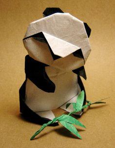 Origami panda, by master Akira Yoshizawa, Japan Papiroflexia