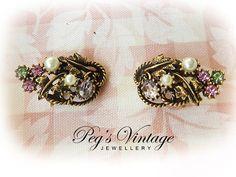 Pretty CORO Designer Vintage Earrings by PegsVintageJewellery, $18.00