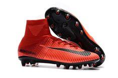 size 40 e13cd 56b11 Nike Mercurial Superfly V FG Soccer Cleats Bright Crimson White University  Red Hyper Crimson