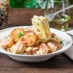 Crispy Cajun Shrimp Fettuccine. Save this recipe for the next time you're craving some feel-good #pasta.